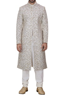 off-white-floral-embroidered-sherwani