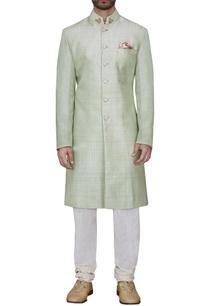 sage-green-textured-sherwani