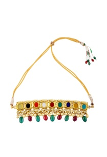 gold-finish-necklace-earring-set-with-colorful-accents