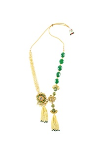 gold-finish-statement-necklace-with-pearl-kundan
