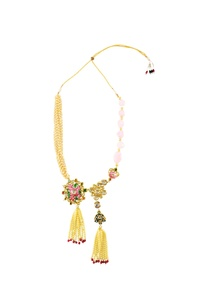 gold-finish-statement-necklace-with-pink-stones
