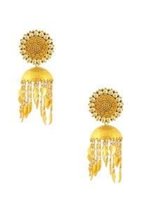 gold-finish-jumki-earrings-with-kundan-and-pearl