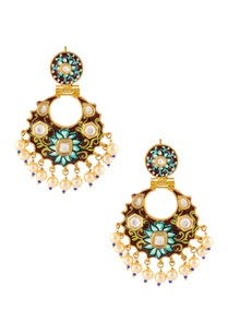 gold-finish-earrings-with-paint-detailing