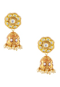 gold-finish-floral-motif-jhumkas