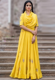 mustard-yellow-draped-crop-top-lehenga