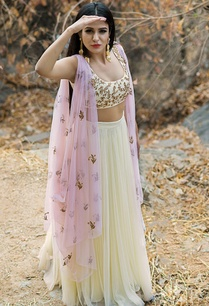 pastel-yellow-lehenga-set-with-cowl-drape