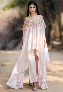 blush-pink-off-shoulder-kurta-set