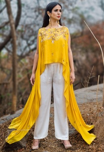 yellow-asymmetric-top-white-palazzo