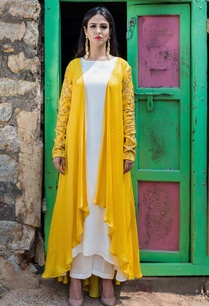 mustard-yellow-cape-with-kurta-palazzo