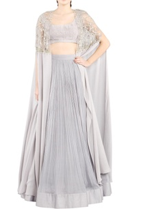 ice-grey-lehenga-set-with-cape