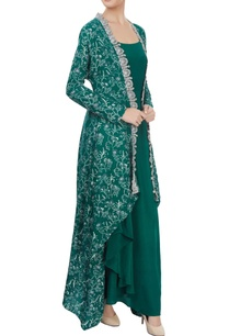 green-gown-with-a-kaftan-overlayer