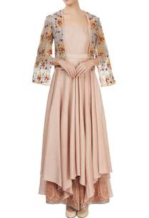 beige-kurta-set-with-an-embroidered-jacket