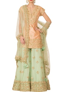 peach-pista-green-sharara-set