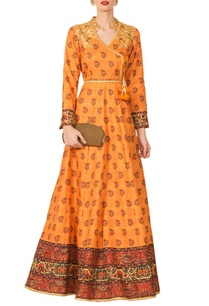 mustard-yellow-silk-angrakha-anarkali