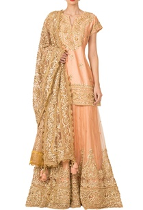 peach-gota-patti-sharara-set