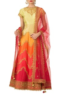 multi-colored-embroidered-anarkali-set