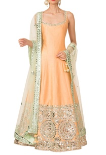 peach-pista-green-anarkali-set