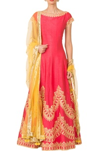 coral-pink-gota-patti-anarkali-set