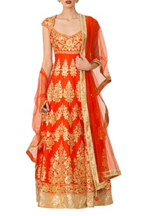 orange-gold-applique-anarkali-set