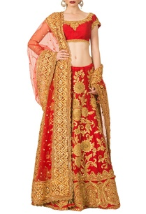 cherry-red-gota-patti-lehenga-set