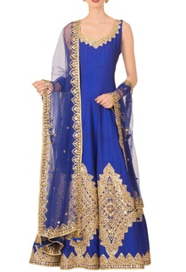 royal-blue-anarkali-set
