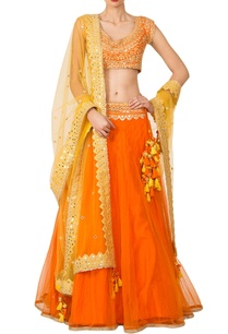 orange-yellow-mirrorwork-lehenga-set