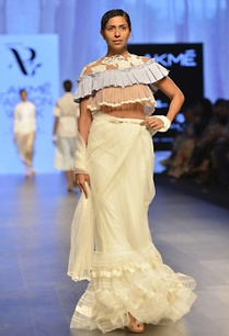white-two-tier-sari