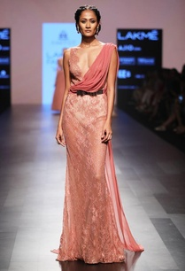 cognac-lace-sari-ball-gown