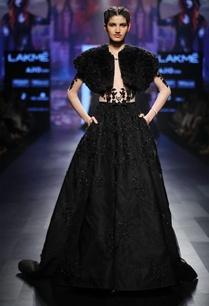 beige-black-ball-gown