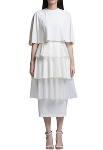 ivory-ruffled-midi-dress