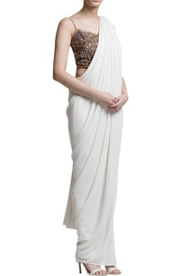 ivory-sari-with-embellished-blouse