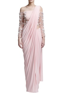 blush-pink-sari-with-off-shoulder-blouse