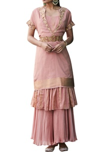 rose-pink-embroidered-kurta-set-with-cummerbund