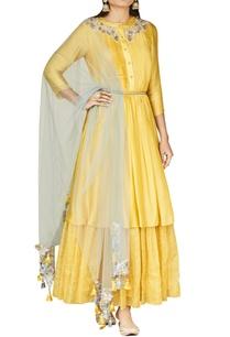 chrome-yellow-embroidered-kurta-set