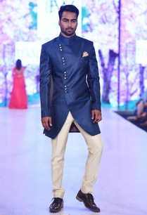 navy-blue-sherwani-beige-trousers