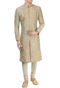 blue-gold-sherwani