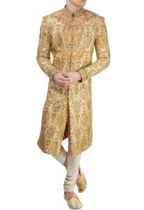 yellow-jamewar-sherwani