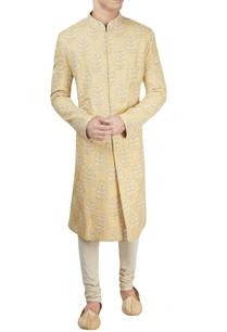 light-yellow-lucknowi-sherwani