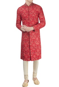 red-lucknowi-sherwani