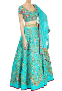 aqua-blue-embroidered-lehenga-set