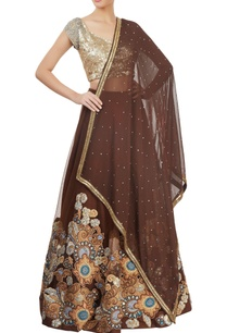 brown-embellished-lehenga-set