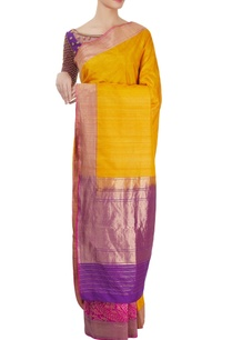 mango-yellow-sari-purple-blouse