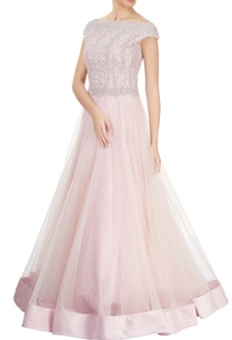 baby-pink-off-shoulder-gown