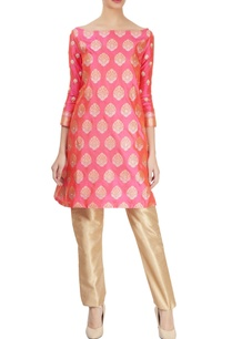pink-motif-embroidered-kurta-gold-trousers