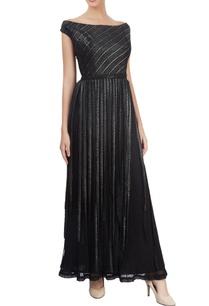 black-off-shoulder-maxi-dress