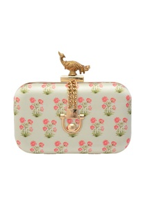 white-floral-printed-box-clutch