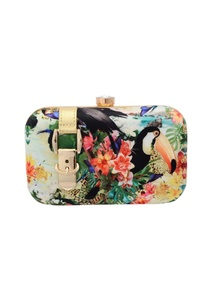 tropical-print-box-clutch