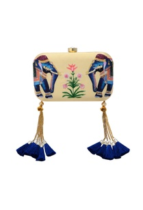 cream-box-clutch-with-elephant-motif