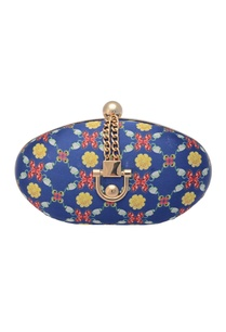 blue-oval-clutch-with-floral-print