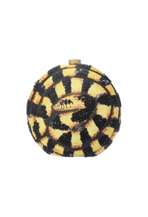 black-yellow-circular-clutch